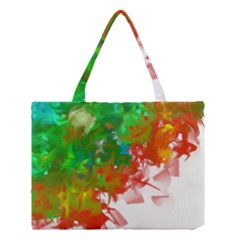 Digitally Painted Messy Paint Background Texture Medium Tote Bag