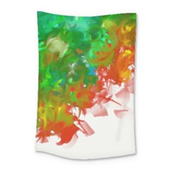 Digitally Painted Messy Paint Background Texture Small Tapestry