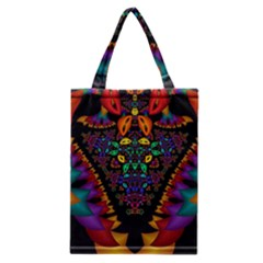 Symmetric Fractal Image In 3d Glass Frame Classic Tote Bag