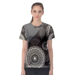 Abstract Mandala Background Pattern Women s Sport Mesh Tee