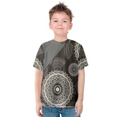 Abstract Mandala Background Pattern Kids  Cotton Tee
