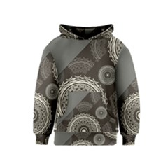 Abstract Mandala Background Pattern Kids  Pullover Hoodie