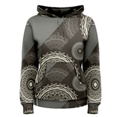 Abstract Mandala Background Pattern Women s Pullover Hoodie