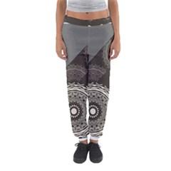 Abstract Mandala Background Pattern Women s Jogger Sweatpants