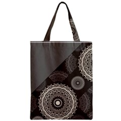 Abstract Mandala Background Pattern Zipper Classic Tote Bag