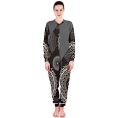 Abstract Mandala Background Pattern OnePiece Jumpsuit (Ladies)