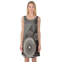 Abstract Mandala Background Pattern Sleeveless Satin Nightdress