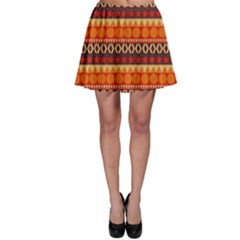 Abstract Lines Seamless Pattern Skater Skirt