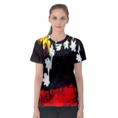 Grunge Abstract In Dark Women s Sport Mesh Tee