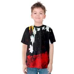 Grunge Abstract In Dark Kids  Cotton Tee
