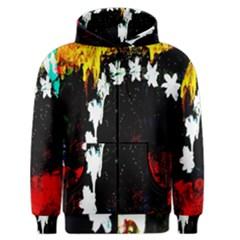 Grunge Abstract In Dark Men s Zipper Hoodie