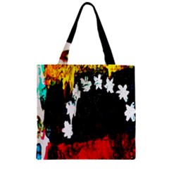 Grunge Abstract In Dark Zipper Grocery Tote Bag