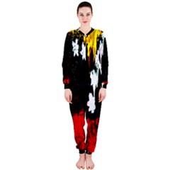 Grunge Abstract In Dark Onepiece Jumpsuit (ladies)