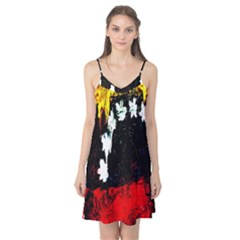 Grunge Abstract In Dark Camis Nightgown