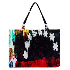 Grunge Abstract In Dark Medium Zipper Tote Bag