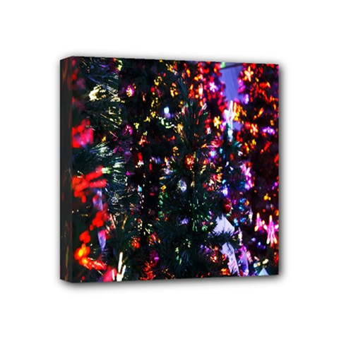 Lit Christmas Trees Prelit Creating A Colorful Pattern Mini Canvas 4  X 4