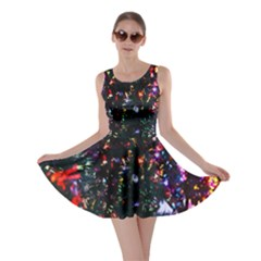 Lit Christmas Trees Prelit Creating A Colorful Pattern Skater Dress