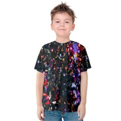 Lit Christmas Trees Prelit Creating A Colorful Pattern Kids  Cotton Tee
