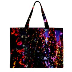Lit Christmas Trees Prelit Creating A Colorful Pattern Zipper Mini Tote Bag