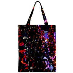 Lit Christmas Trees Prelit Creating A Colorful Pattern Zipper Classic Tote Bag