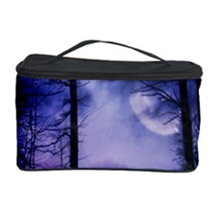 Moonlit A Forest At Night With A Full Moon Cosmetic Storage Case