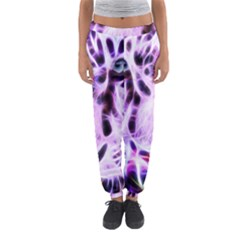 Fractal Wire White Tiger Women s Jogger Sweatpants