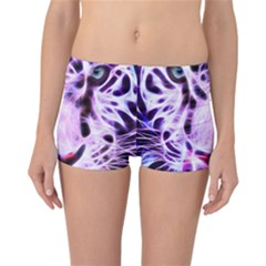 Fractal Wire White Tiger Reversible Bikini Bottoms