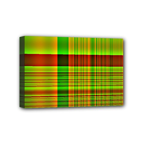Multicoloured Background Pattern Mini Canvas 6  X 4