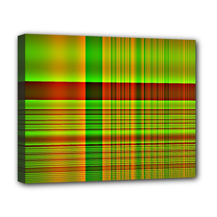 Multicoloured Background Pattern Deluxe Canvas 20  x 16
