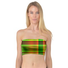 Multicoloured Background Pattern Bandeau Top