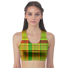 Multicoloured Background Pattern Sports Bra