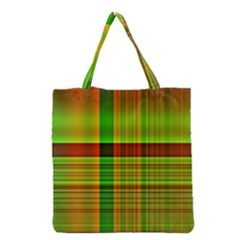 Multicoloured Background Pattern Grocery Tote Bag