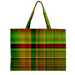 Multicoloured Background Pattern Zipper Mini Tote Bag