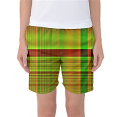 Multicoloured Background Pattern Women s Basketball Shorts