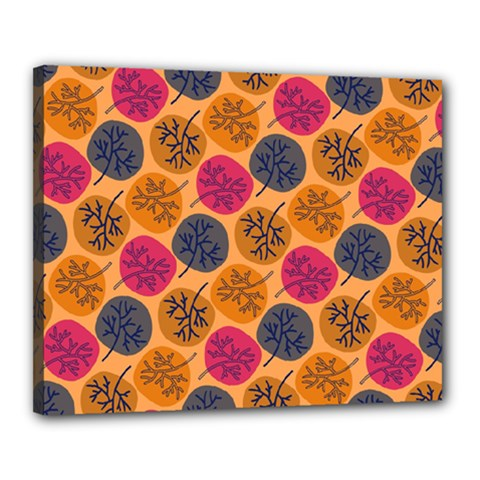 Colorful Trees Background Pattern Canvas 20  X 16
