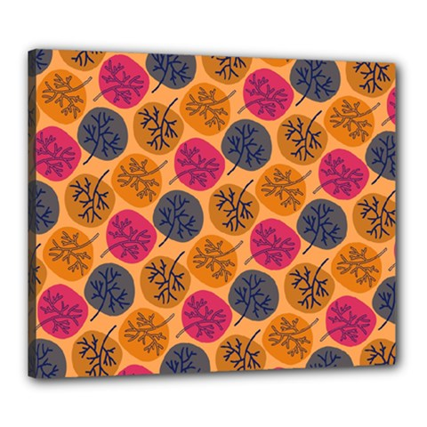 Colorful Trees Background Pattern Canvas 24  X 20