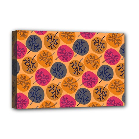 Colorful Trees Background Pattern Deluxe Canvas 18  X 12