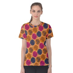 Colorful Trees Background Pattern Women s Cotton Tee