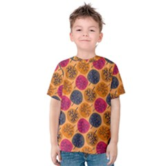 Colorful Trees Background Pattern Kids  Cotton Tee