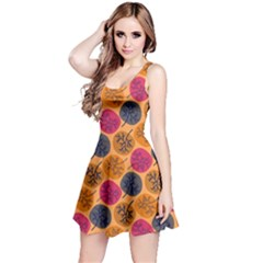Colorful Trees Background Pattern Reversible Sleeveless Dress