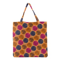 Colorful Trees Background Pattern Grocery Tote Bag