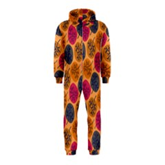 Colorful Trees Background Pattern Hooded Jumpsuit (Kids)