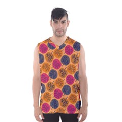 Colorful Trees Background Pattern Men s Basketball Tank Top