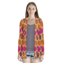 Colorful Trees Background Pattern Cardigans
