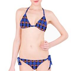 Abstract Lines Seamless Pattern Bikini Set