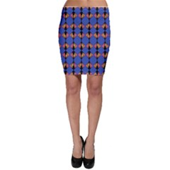 Abstract Lines Seamless Pattern Bodycon Skirt