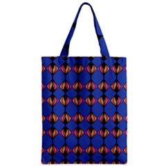 Abstract Lines Seamless Pattern Zipper Classic Tote Bag