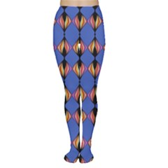 Abstract Lines Seamless Pattern Women s Tights