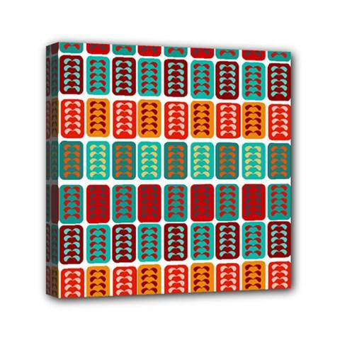 Bricks Abstract Seamless Pattern Mini Canvas 6  X 6
