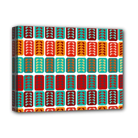 Bricks Abstract Seamless Pattern Deluxe Canvas 16  x 12